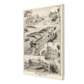 Goodell Co's Works, Antrim, NH Canvas Print