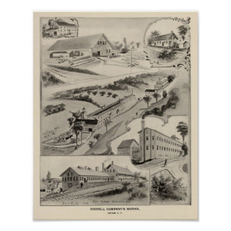 Goodell Co's Works, Antrim, NH Poster