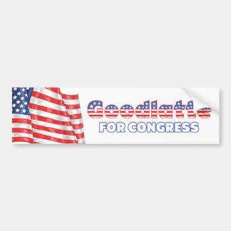Goodlatte for Congress Patriotic American Flag Bumper Sticker