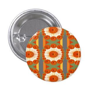 Goodluck Gesture : Flower Marigold Beauty 3 Cm Round Badge