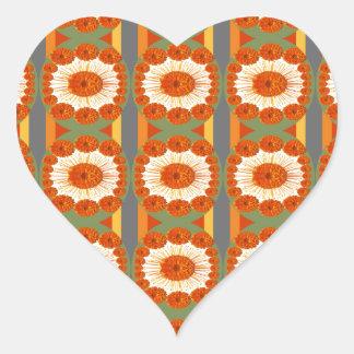 Goodluck Gesture : Flower Marigold Beauty Heart Sticker