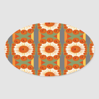 Goodluck Gesture : Flower Marigold Beauty Oval Stickers
