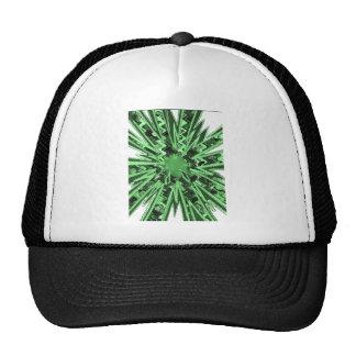 Goodluck Green Sparkle star modern abstract art Cap