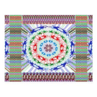 Goodluck Round Chakra Healing Art Postcard