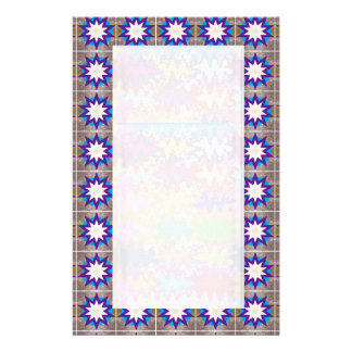 Goodluck Symbol Blue White Star Cosmic Energy Personalized Stationery