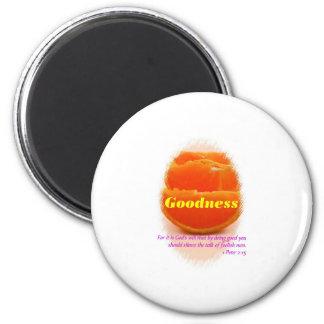 Goodness 6 Cm Round Magnet