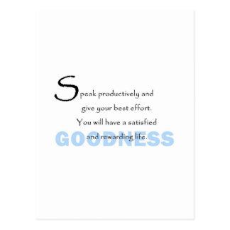 Goodness Postcard