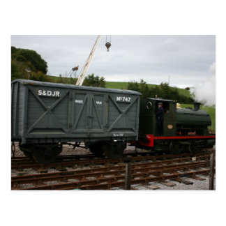 Goods train at Washford station, WSR, UK Postcard