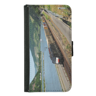 Goods train in ASS one ASS on the Rhine Samsung Galaxy S5 Wallet Case