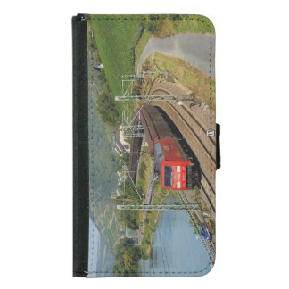 Goods train in Lorch on the Rhine Samsung Galaxy S5 Wallet Case