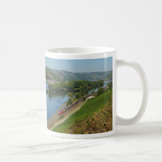 Goods train in the Rhine Valley with Lorch Basic White Mug