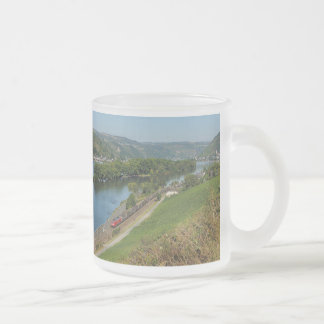 Goods train in the Rhine Valley with Lorch Frosted Glass Mug