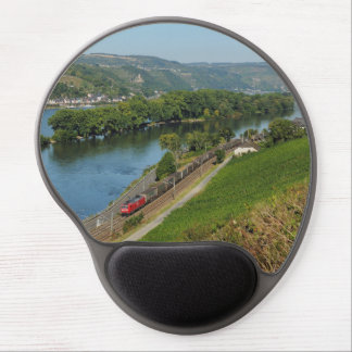 Goods train in the Rhine Valley with Lorch Gel Mouse Pad