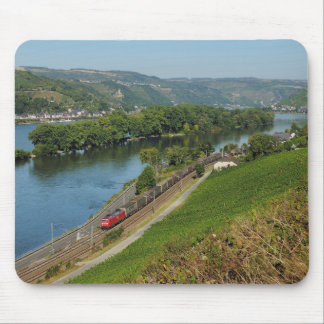 Goods train in the Rhine Valley with Lorch Mouse Pad
