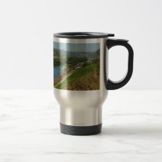 Goods train in the Rhine Valley with Lorch Stainless Steel Travel Mug