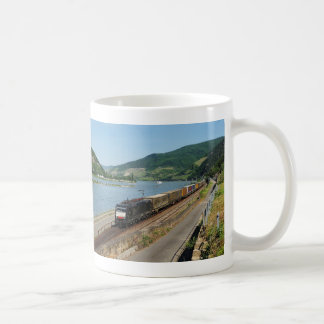 Goods train with ASS one ASS on the Rhine Coffee Mug