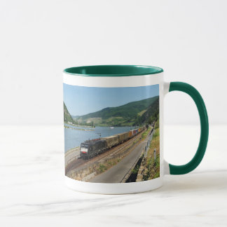 Goods train with ASS one ASS on the Rhine Mug