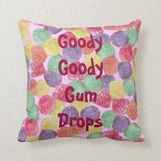 Goody Goody Gumdrops Throw Pillow