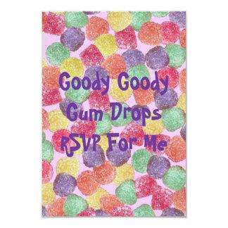 "Goody Goody Gumdrops 3.5"" X 5"" Invitation Card"