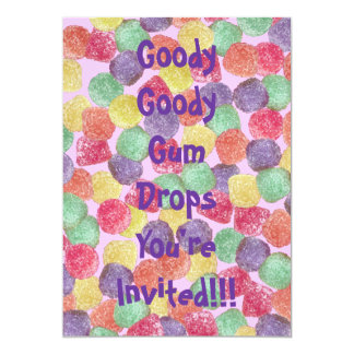 "Goody Goody Gumdrops 5"" X 7"" Invitation Card"