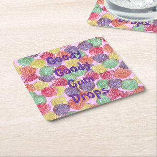 Goody Goody Gumdrops Square Paper Coaster