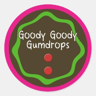 Goody Goody Round Stickers, Glossy Classic Round Sticker