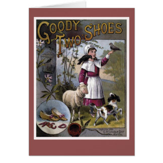 Goody-Two-Shoes Vintage Book Cover Greeting Card