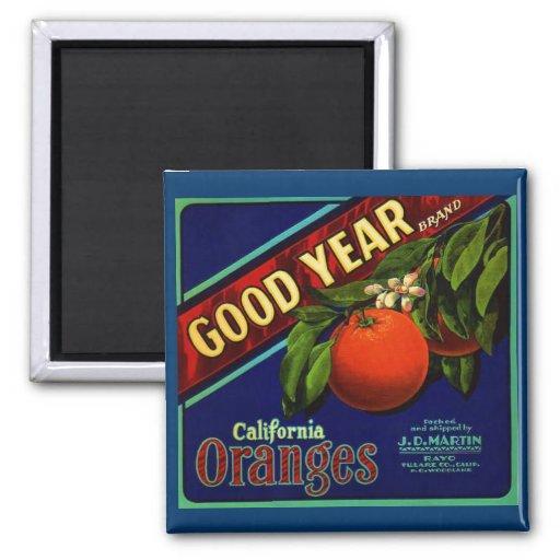Goodyear Oranges Square Magnet