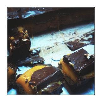 Gooey Caramel Marshmallow and Chocolate Canvas Canvas Print
