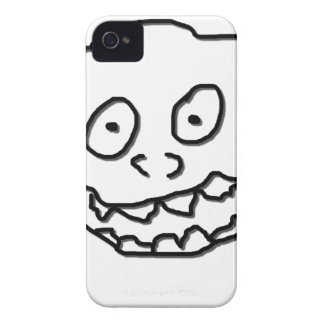 Goof Doodle Nut 0003 black and white iPhone 4 Case