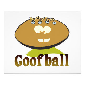 GOOFBALL funny football cartoon character Custom Flyer