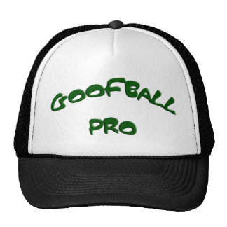 GOOFBALL PRO green text Caps Mesh Hats