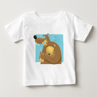 goofy bear eating honey tee shirt
