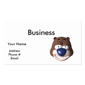 goofy bear face pack of standard business cards