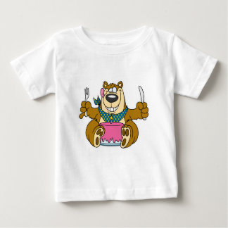goofy birthday cake bear baby T-Shirt
