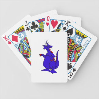 Goofy Blue Dragon Guy png Bicycle Playing Cards