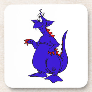 Goofy Blue Dragon Guy png Coasters