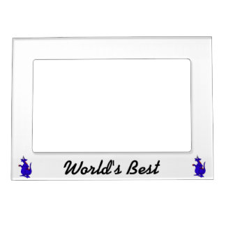 Goofy Blue Dragon Guy.png Magnetic Picture Frame