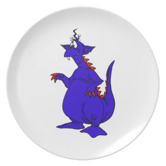 Goofy Blue Dragon Guy.png Plate