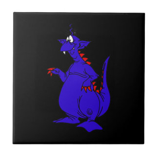 Goofy Blue Dragon Guy.png Small Square Tile