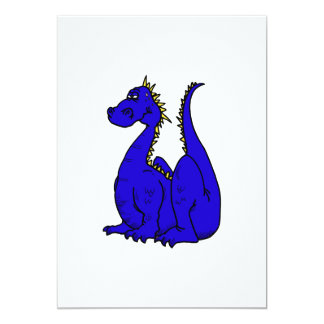Goofy Blue Dragon Personalized Invitations