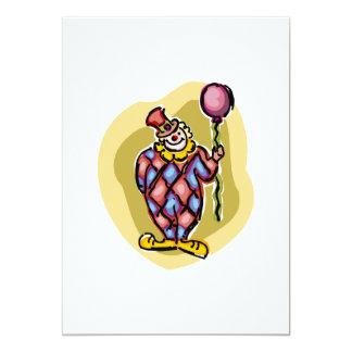 Goofy Clown & Balloon Custom Invites