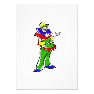 Goofy clown invite