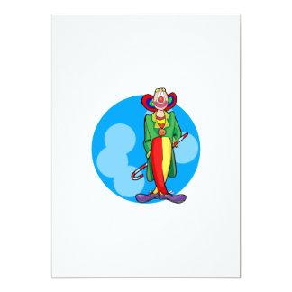 Goofy Clown Man Custom Invitations