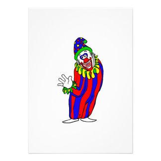 Goofy Colorful Clown Custom Invite