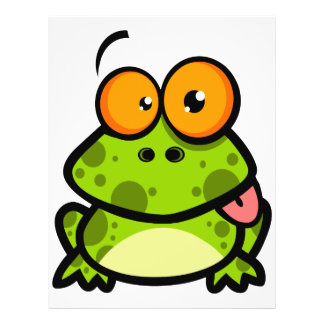 goofy cute frog sticking out tongue 21.5 cm x 28 cm flyer