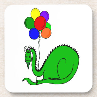 Goofy Dragon Holding Balloons Coaster