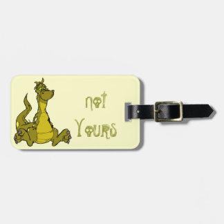 Goofy Dragon Luggage Tag