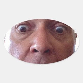Goofy faceimage.jpg oval sticker