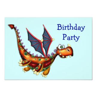 Goofy Flying Dragon Birthday Party Invite
